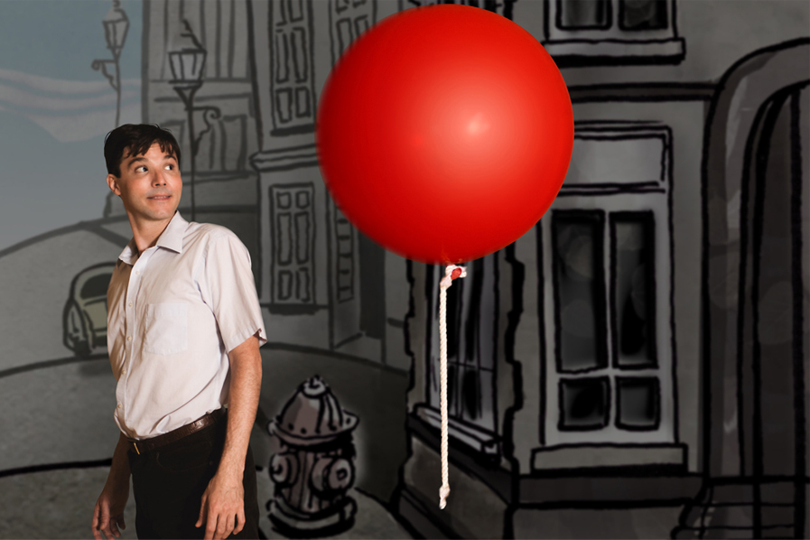 Red Ballon with Mark Stuart